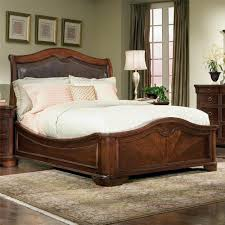 Heritage Court King-Size Bed with Leather Upholstered Sleigh Headboard by  Legacy Classic - Wolf