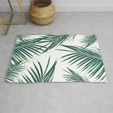 green palm leaves dream 2 tropical decor art society6 rug
