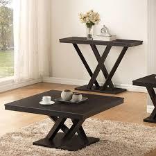 baxton studio everdon dark brown console table