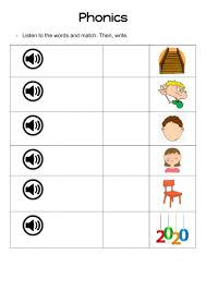 A collection of english esl worksheets for home learning, online practice, distance learning and english classes to teach about phonics, phonics. Phonics Ear Air Worksheet