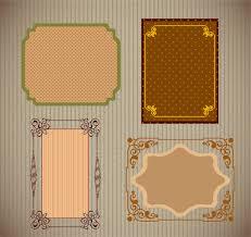 sets of vintage frames with various pattern background