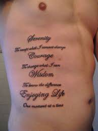 Rib Tattoos Quotes Custom Rib Tattoos For Men Choose The Perfect Quote Your 48 Tattoo