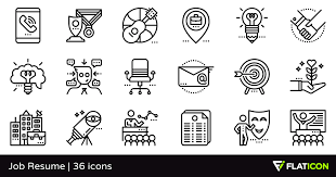 Resume Icons Awesome 16 Job Resume 24 Free Icons SVG EPS PSD PNG Files