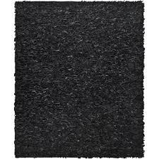 safavieh leather black 8 ft x 10 ft area rug