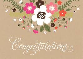 Rustic Floral Congratulations Card Achievement By Brookhollow