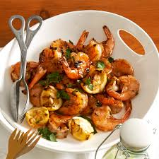 When butter starts to brown, add garlic. Healthy Grilled Bbq Shrimp Recipes Eatingwell