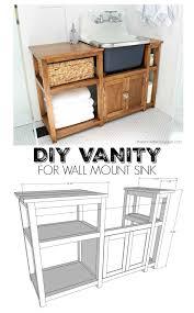 free bathroom vanity cabinet plans. diy vanity for wall mount sink free plans bathroom cabinet r