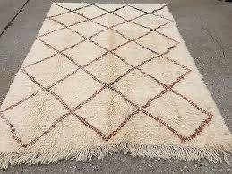 unusual large beni ourain moroccan rug 275x168cm moroccan carpet atlas berber uk eur 854 62 pic fr