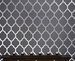 Wall Stencil Patterns Beauteous Wall Stencil Pattern Ribbon Amusing Bedroom Stencil Ideas Home Wall