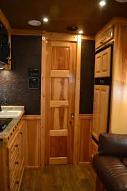 1000 images about for horse trailer western outlaw conversion living quarters horse trailer shortwall gorgeous hickory cabinets and pocket door