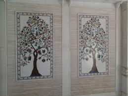 tree pattern inlay wall panel