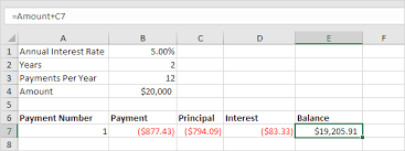 Auto Loan Amortization Schedules Loan Amortization Schedule In Excel Easy Excel Tutorial
