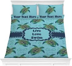 sea turtles comforter set personalized