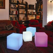 mood lighting living room. LED Mood Lighting Lamps Living Room Minimalist Cube Emitting Furniture , European Stool Chair Coffee Table-in Bar Stools From On R