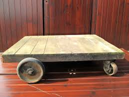 reclaimed original antique victorian trolley coffee table