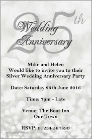silver wedding anniversary invitation wording lovely bes on silver jubilee invitation card matter anniversary cards new