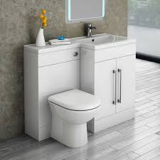 Valencia 1100mm Combination Bathroom Suite Unit With Basin Round Toilet  Sink Combo Unit Toilet Basin Combo