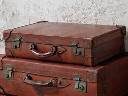 Old Leather Suitcase By Cleghorn