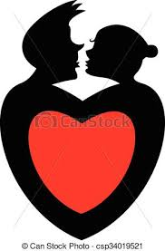 hearts silhouette love silhouette simbol loving couples and hearts silhouette