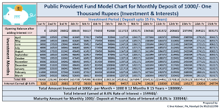 Provident Fund Chart Ppf Monthly Rs 1000 Investment Model Calculation Chart