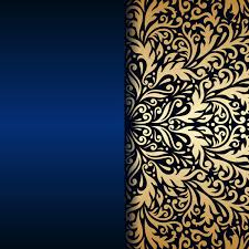 Blue And Gold Design Luxury Blue Background With Ornament Gold Vector 09 Free
