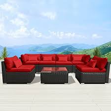 Amazoncom patio furniture Furniture Cushions Image Unavailable Amazoncom Amazoncom Modenzi 7gu Outdoor Sectional Patio Furniture Espresso