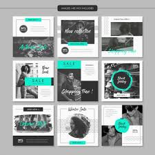 Greyscale Fashion Social Media Post Template Vector Premium Download