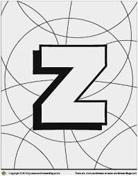 Letter Z Coloring Page Wonderfully Free Letter Z Coloring Page