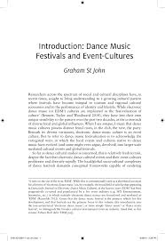 (PDF) Introduction to Weekend Societies: <b>EDM Festivals</b> and Event ...