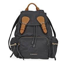 burberry medium technical nylon and leather rucksack black item no 4016622