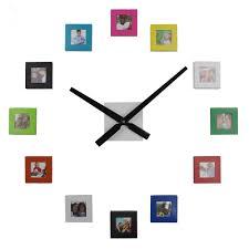 new big diy 12 photos frame wall clock