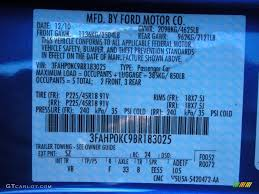 Ford Fusion Color Chart Ford Fusion Color Codes Wiring Diagrams