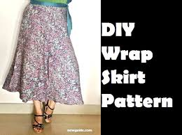 Wrap Skirt Pattern Stunning Make A Beautiful WRAP SKIRT DIY Pattern Tutorial Sew Guide