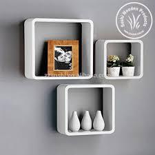 uniifurn square wall shelves rounded cornerset of white  buy