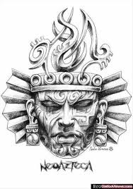 Aztec Tattoo Patterns Impressive Aztec Head Tattoo Design Ink Tattoos Pinterest Head Tattoos