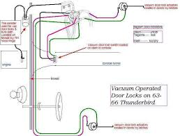 ford thunderbird shop manuals 1964 1966 thunderbird vacuum door lock diagram 2