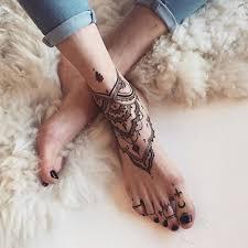 Tatouage Mandala Pied Henna хна серое тату и татуировки хной