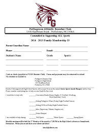 Booster Club Membership Form Docshare Tips