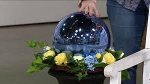 12 oversized illuminated mercury glass sphere by valerie on qvc