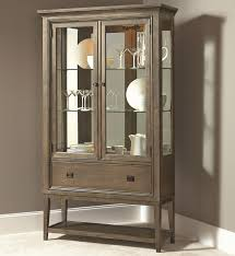 Curio Cabinet Lights Contemporary Curio China Cabinet With 2 Glass Doors And Adjustable