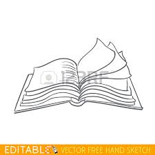 450x450 closed book editable vector graphic in linear style royalty free