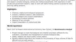 Bioinformatics Resume Professional Bioinformatics Analyst Templates To Showcase