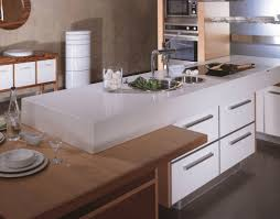 quartz top dining table. Quartz Top White Kitchen Island Attached To Wooden Dining Table O