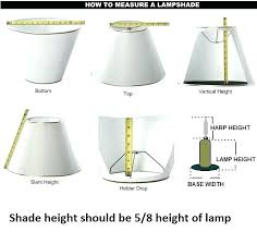 lamp shade sizes how to measure lamp shade simple various lamp shade sizes at co lamp shade sizes guide