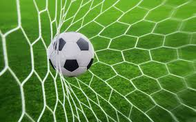 grass soccer field with goal. Sports Depth Of Field Sport Goal Grass Green Soccer Ball Pitches Nets Net Football Player With