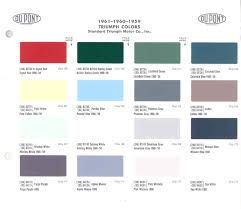 Wedgwood Color Chart 948 Triumph Herald Colors