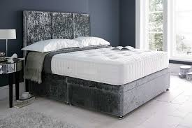 crushed velvet beds with beds on legs