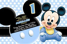 baby mickey mouse invitations birthday baby mickey invitations birthday free printable mickey mouse 1st