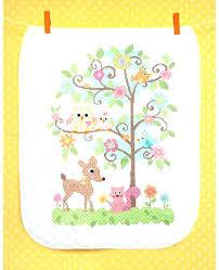 Bucilla Baby Quilt Kits Dimensions Baby Hugs Tree Quilt Stamped ... & bucilla baby quilt kits dimensions baby hugs tree quilt stamped cross stitch  kit x cross stitch Adamdwight.com