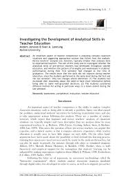 investigating the development of analytical skills in teacher investigating the development of analytical skills in teacher education pdf available
